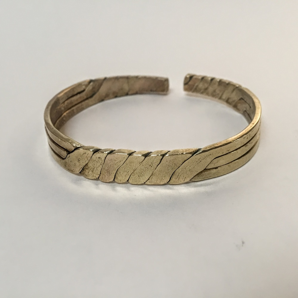 hammered brass cuff