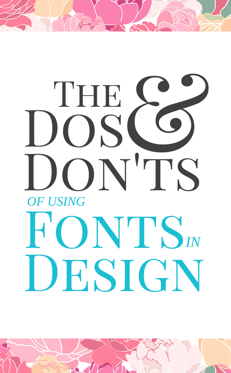Learn about the Do's and Don'ts of using fonts in your designs, over at www.cuttingforbusiness.com. Guest post written by Sarah of www.sarahdesign.com.