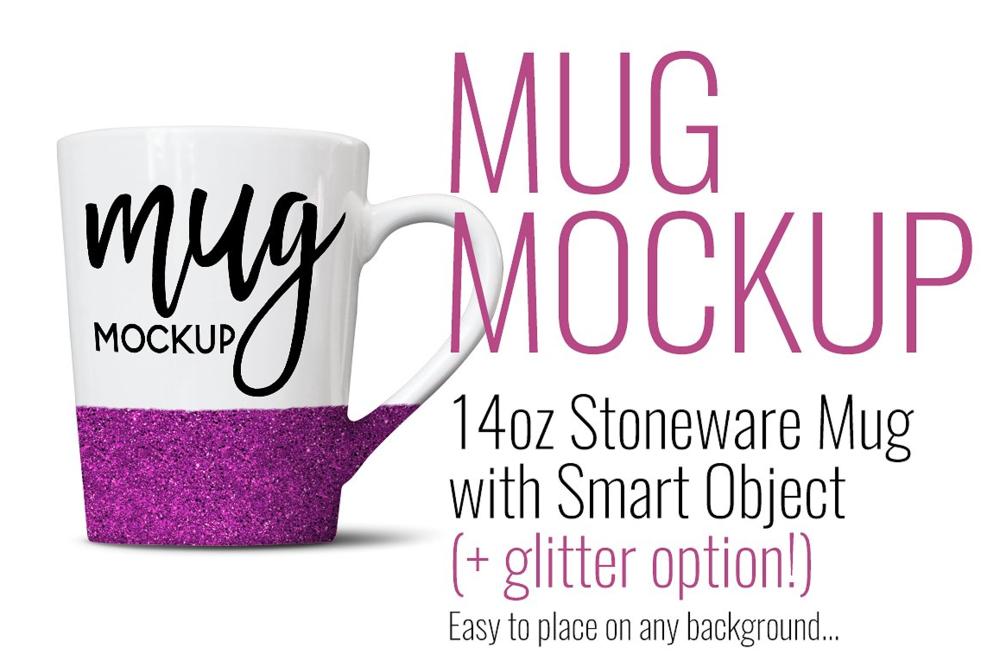 14oz Mug with Glitter