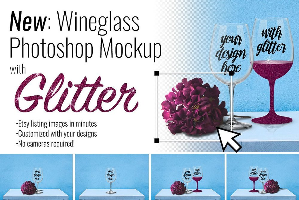 Wineglass Mockup Scene Creator by SarahDesign