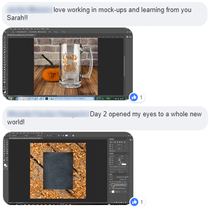 Photoshop 101 Challenge - Make Your First Mockup Testimonials 2