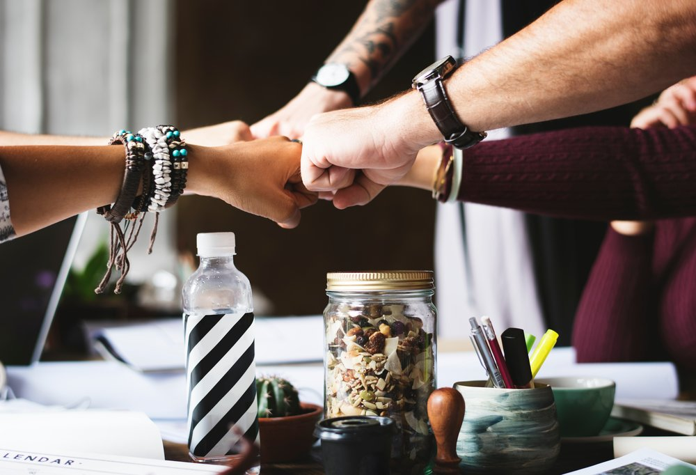 As this image of colleagues bumping fists over a work table implies, your agency is a partner. Treat them like professional peers rather than subordinates and you will get a much better result when working to build a custom LMS.  Photo by  rawpixel  on  Unsplash