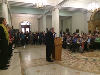Over 160 MAICCA members gathered at the Statehouse in November, 2015 to advocate for our legislative priorities in the energy transition