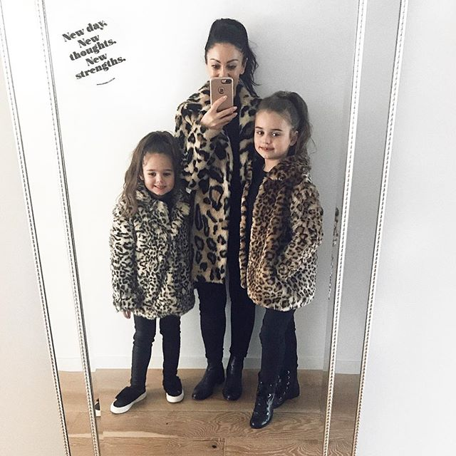 Some days we love being the same but different ❤️ #twinning #leopard