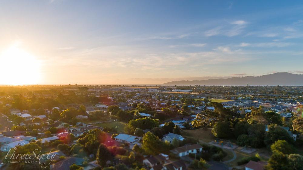 Drone sunset - Paraparaumu.
