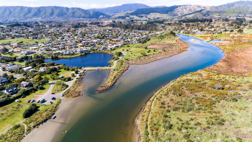 Waikanae River - Shot from Otaihanga