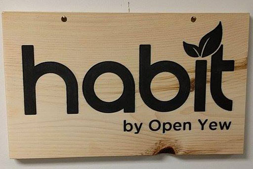 Custom Sign on Maple