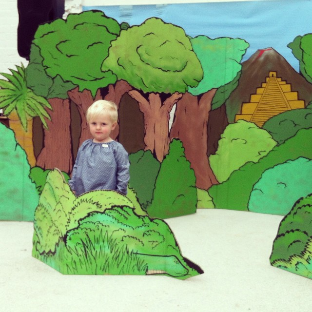Busy baby lost in the jungle #penpushers @penpusherslive #bowartsoopenstudios2015