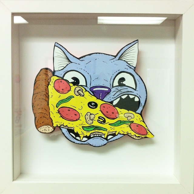 Pizza to the face! #catsplosion