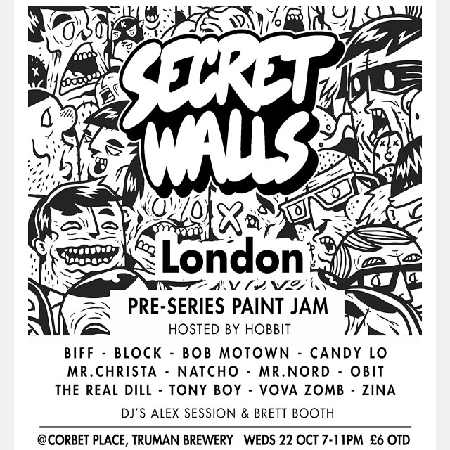 WEDNESDAY! Is gonna get real. @secretwalls is back in town and we gonna be doin the ting!
