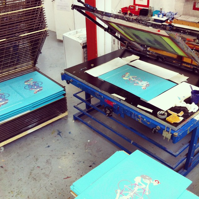 Where the magic happens. #printyourlifeaway @artcrank #artcranklondon2014