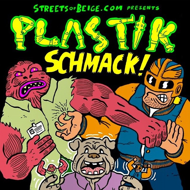Going down TONIGHT! If ur in or around Bristol tonight go check out this fuckin awesome show I'm in! #plastikschmack all kindsa customized toys.