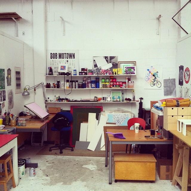 Where the magic happens…  (at Art Hub)