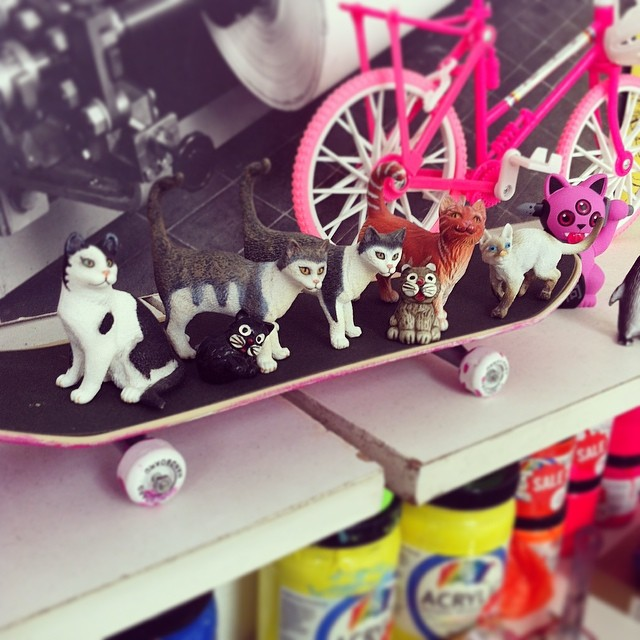 My collection of tiny cats got a little bigger today! (at ArtHub)