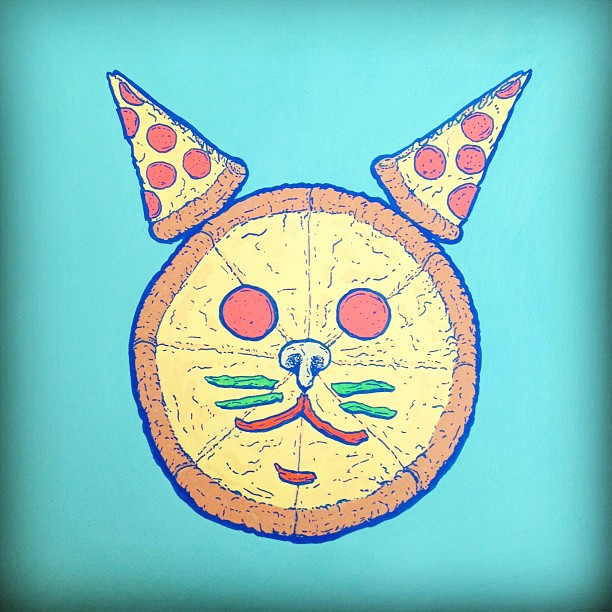 #supreme #pizza #cats  (at ArtHub)