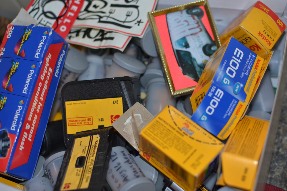 My old friend shawnwhisenant takes really awesome street flicks, but for some reason this box of film and stuff got me really excited this morning. Thanks coffee…