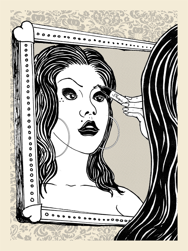 "An Oldie but a Goodie. ""Sharpie Girl"" print from 2010. #OraleHyna"