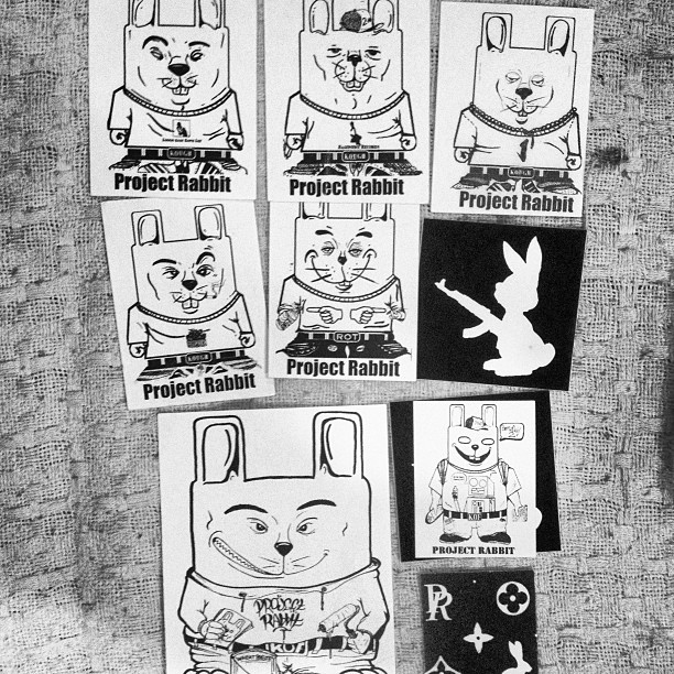 The original #projectrabbit stickers. Circa 2004