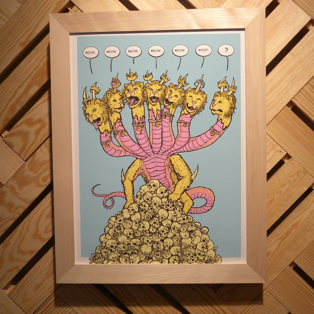 The Beast of the Sea - by Bob Motown    Here is my print for the  MONSTROUS  show at Telegraph gallery. This and all the other awesome prints are available to oogle and buy online.  Check it out!