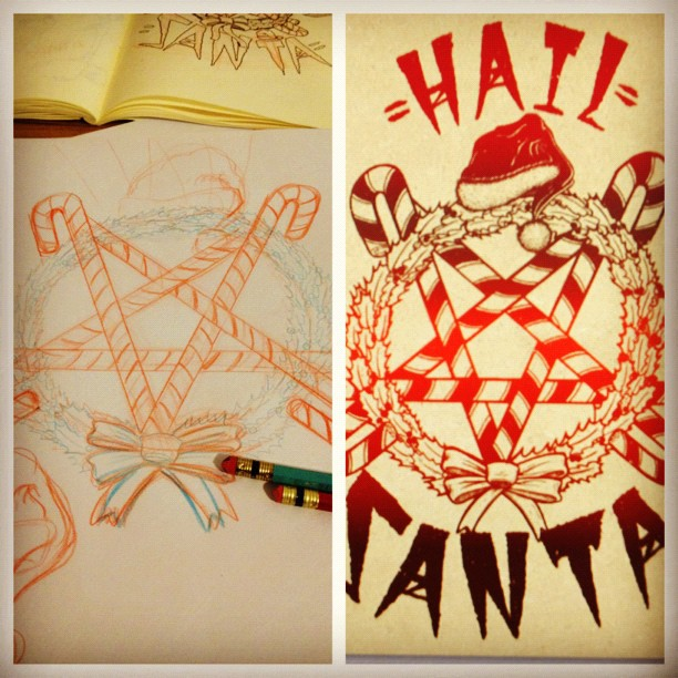 #process #darkchristmas #hailsanta (at santas pit of pain)