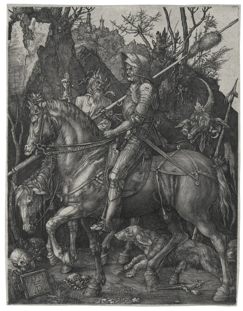 Albrecht Dürer did this print in 1513.   Its still just as epic today… fucking heavy metal dude… One of my favorite artists.
