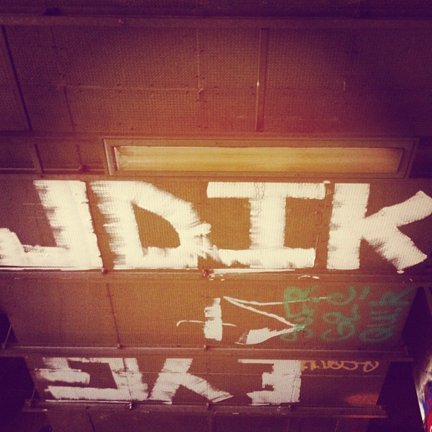 Ceiling roller still runnin! #jdikfamily #jdi #justdatillkrew @jdikrew (Taken with  Instagram  at The Old Vic Tunnels)