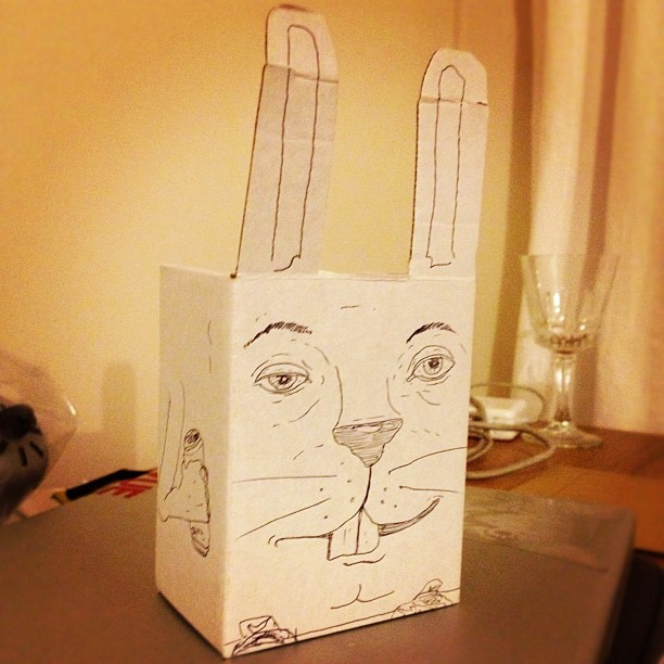 #projectrabbit box doodle. That yung package design after dinner swag (Taken with  Instagram  at Algar House)