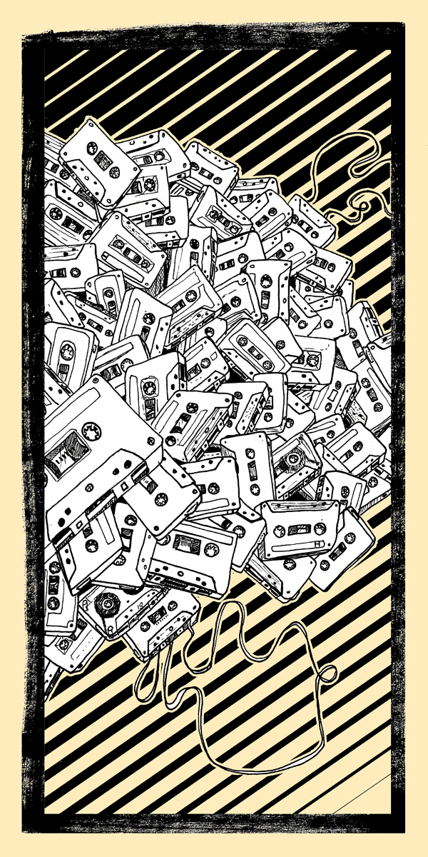 Art print I did some years back. like I said, I freaking love tapes!