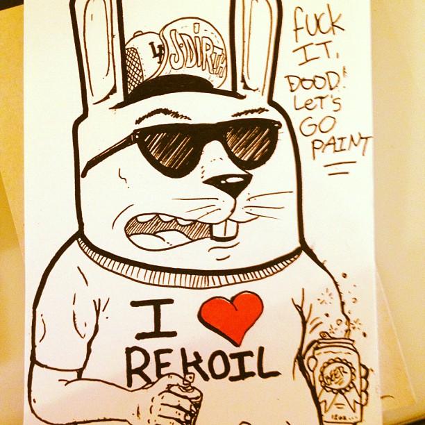 #rekoil #projectrabbit #graffiti #streetart #GRAFFLIFE #jdi #rth (Taken with  Instagram  at KFC)