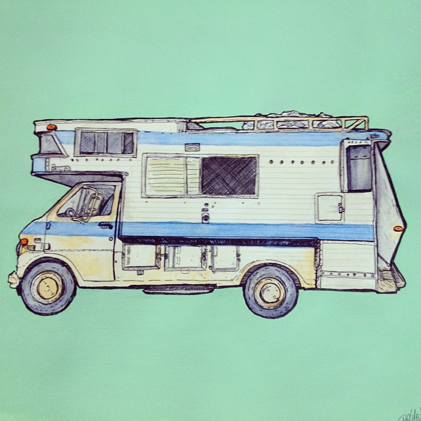 #mobilehome #illustration took forever to complete! #thankyoucoffee (Taken with Instagram at On the open road)