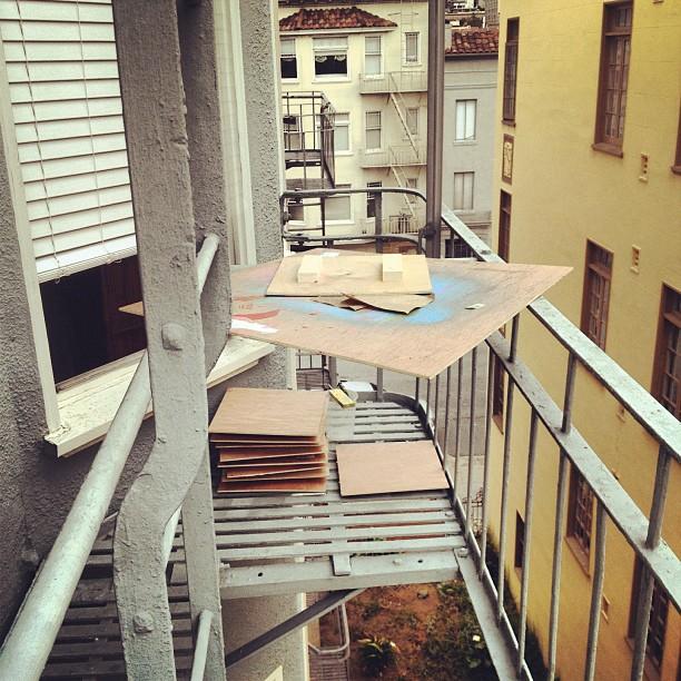 Fire escape studio! #usewhatyougot #ingenuity (Taken with  instagram )