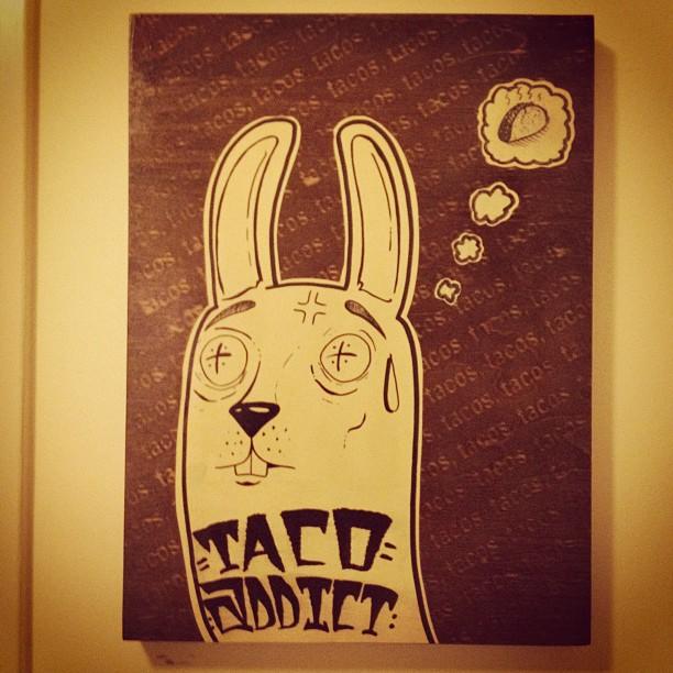 Taco addict! #projectrabbit  (Taken with  instagram )