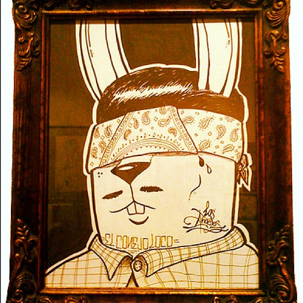 Loc'd out… #cholo #projectrabbit (Taken with  Instagram  at Crewest gallery)