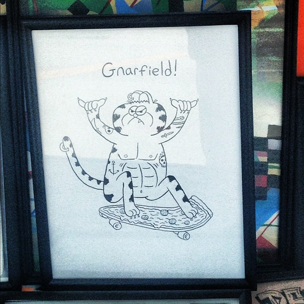 Gnarfield. #ijustcompleted (Taken with  Instagram  at RVCA)