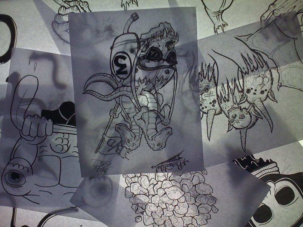 pile-o-drawings