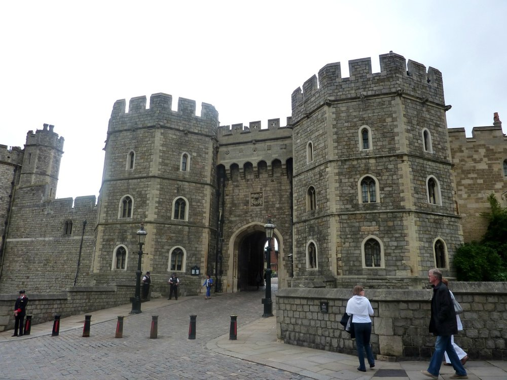 Henry VIII gateway at Windsor Castle.