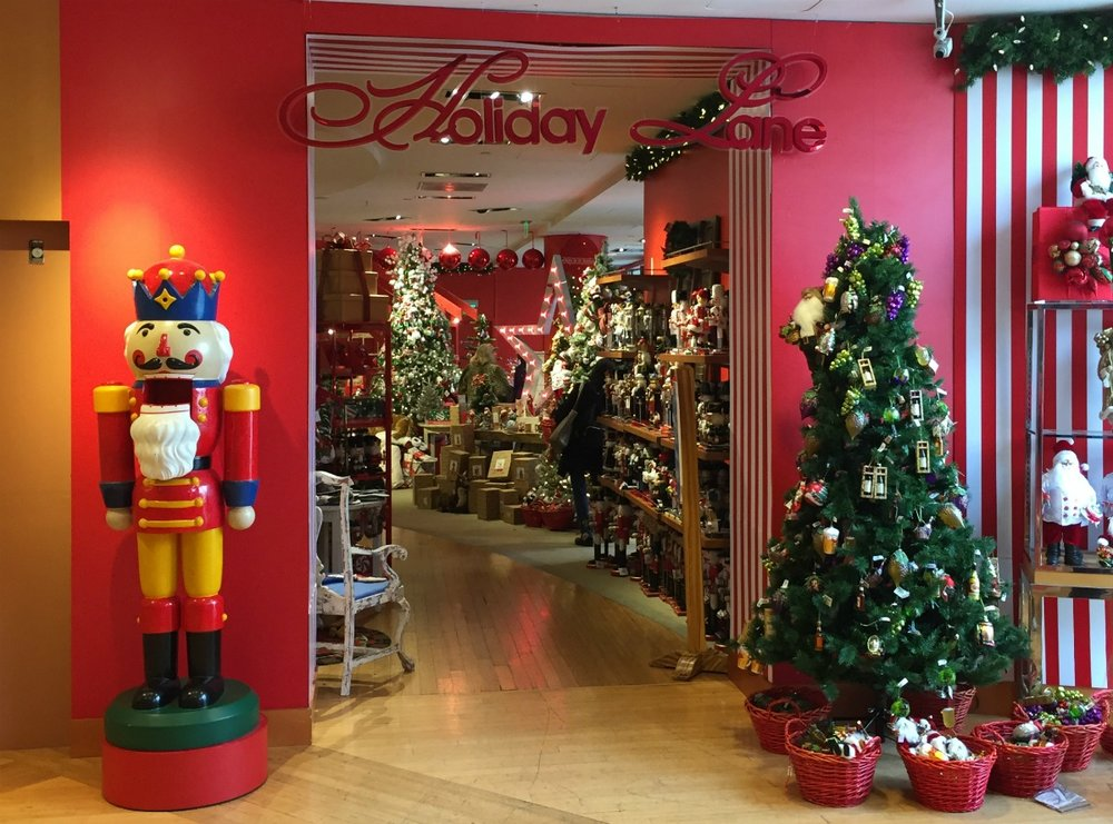 window shopping and macys holiday lane