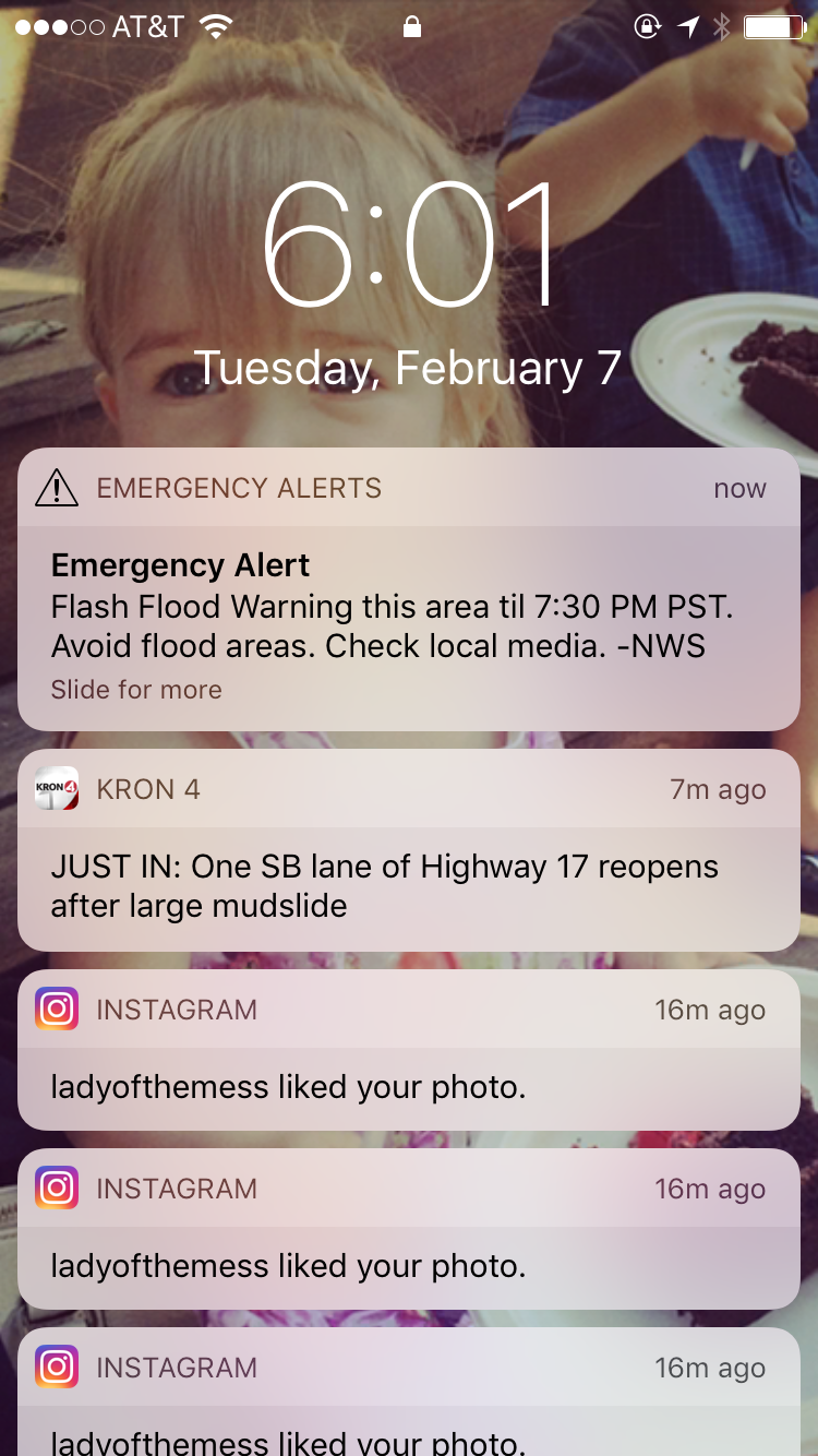 This winter we have been waking up to emergency alerts on our phones multiple times.