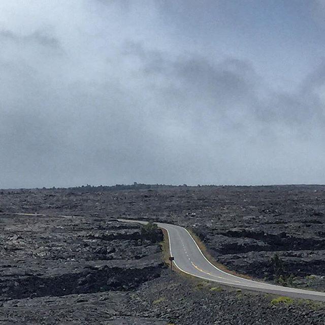 Driving on Hawaii's Big Island feels like being on the moon.