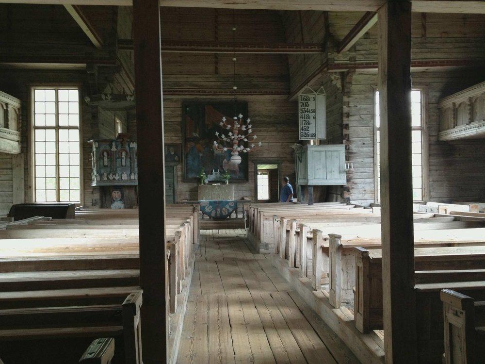 """""""Petäjävesi Old Church"""" is on the Unesco World Heritage list."""