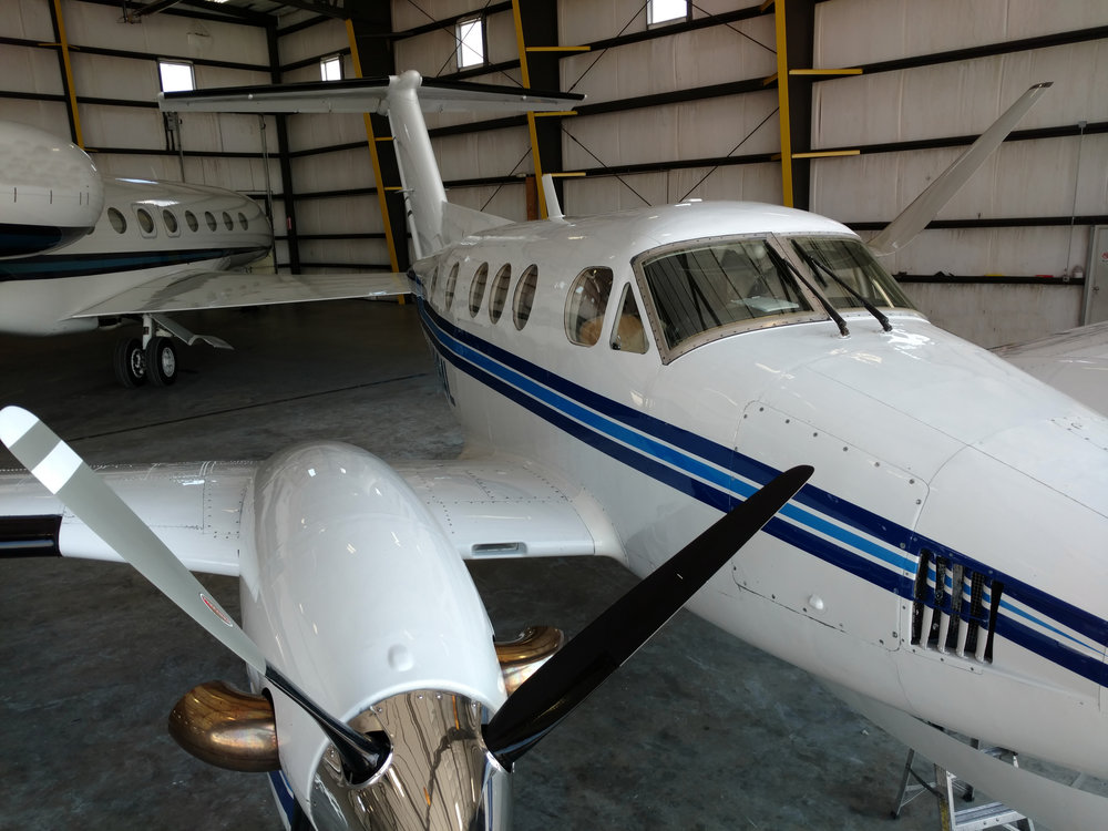 KING AIR AFTER RESTORATION + TFS TITANIUM PAINT PROTECTANT