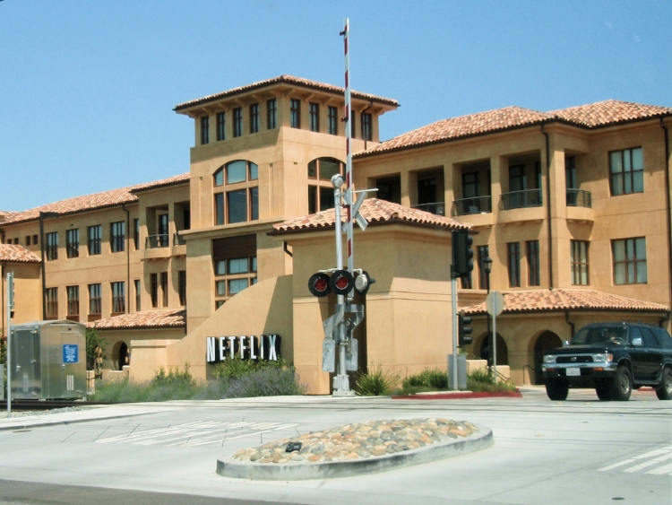 Netflix headquarters in Los Gatos, CA.