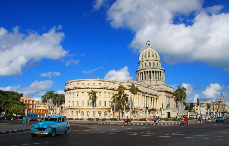"""Le Capitol Nacional."" Cuba's capitol building in Havana. Taken by Guillaume Baviere."