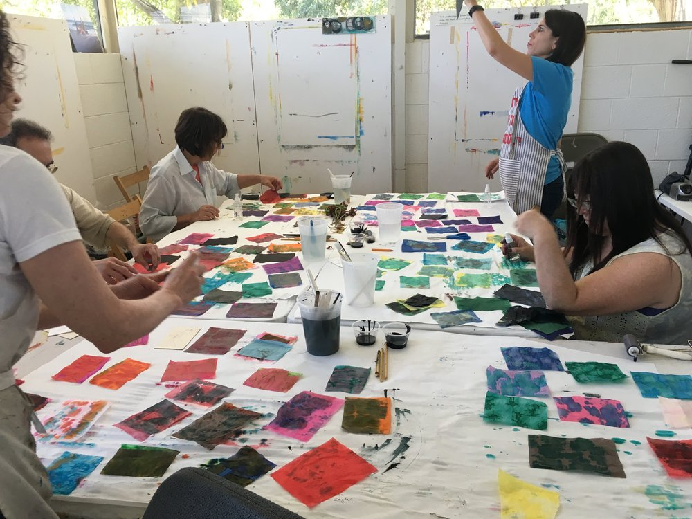 mixed media art workshop