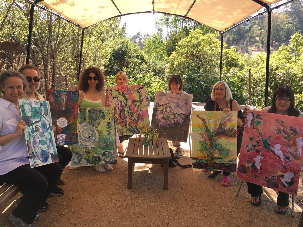 peaceful garden studio