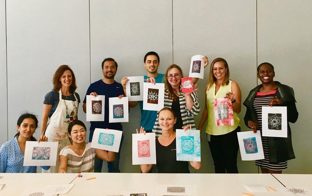 Thomson's Reuters Culver City, Los Angeles: Printing Mandalas