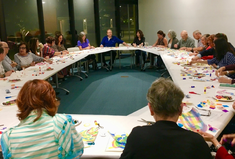 Entering the high holy days through a transformational art workshop