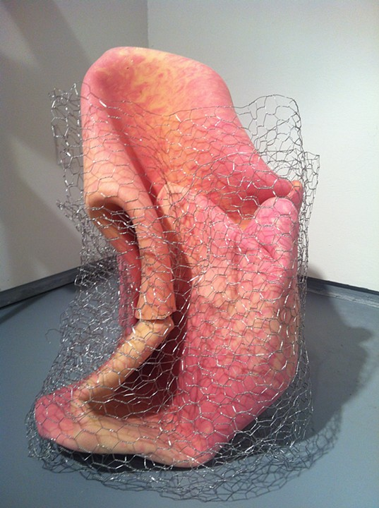 """UNTITLED"", chicken wire and foam,    2012"