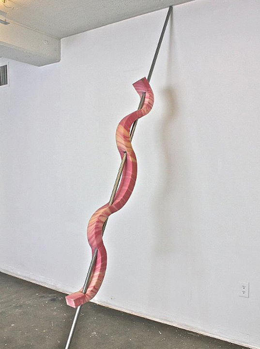 """UNTITLED"", steel rod and foam,    2012"