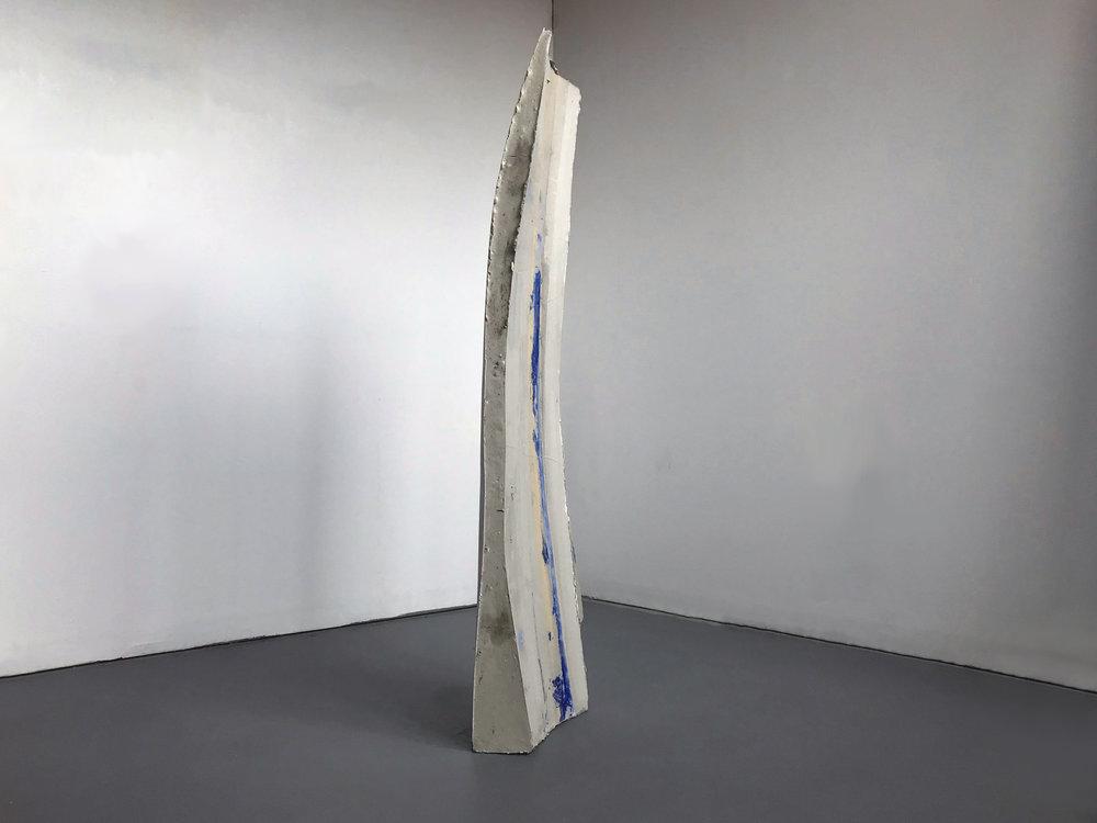 """2017,  Softcore , Concrete and pigment, 42"""" x 10"""" x 9"""""""